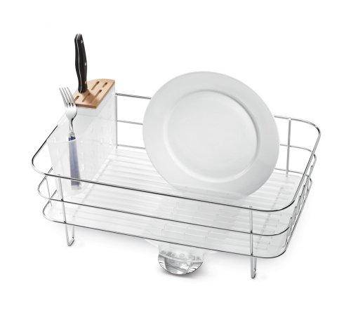 simplehuman Slim Wire Frame Dish Rack, Stainless Steel (Simplehuman Dish Drying Rack compare prices)