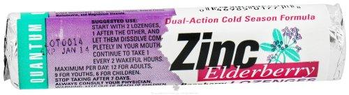 Quantum Health - Zinc Elderberry Dual-Action Cold Season Formula Raspberry - 14 Lozenges