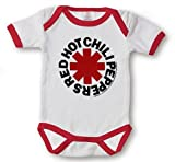 Kiditude Red Hot Chili Peppers Baby Onesie White