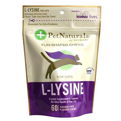 Pet Naturals Of Vermont L-Lysine F Original Cats Chicken Liver - 60 Chewables