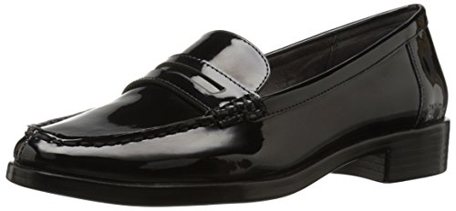Aerosoles Women's Main Dish Penny Loafer, Black Patent, 7.5 M US