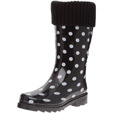 Jardy Demi Botte Ophelia, Bottes de pluie femme - Noir, 36 EU