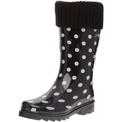 Jardy Demi Botte Ophelia, Bottes de pluie femme - Noir, 37 EU