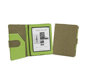 Cover-Up Kobo Mini (5-inch) eReader Natural Hemp Cover Case With Auto Sleep / Wake Function (Book Style) - (Khaki Green) from Electronic-Readers.com