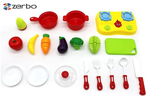 ZERBO-Chop-Cook-and-Serve-19-pcs-Mini-Sized-Play-Food-Toy-Set-for-Kids