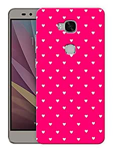 """Humor Gang Cute Little Hearts - Pink Printed Designer Mobile Back Cover For """"Huawei Honor 5X"""" (3D, Matte, Premium Quality Snap On Case)"""