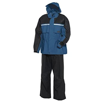 Onyx-Arctic Shield-X-System Mens Adult PVC Nylon Rainsuit (Midnight Blue Black) by ArcticShield