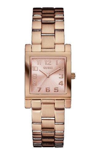 Guess W0131L3 - Reloj con correa de piel para mujer, color dorado / gris