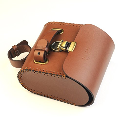 Handmade Leather PU England Vintage Bike Seat Saddle Tail Tools Bag, to match BROOKS Cushion Size 13*10.5*7cm 1