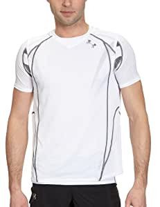 Under Armour Chafe Free 2-1 Run Top T-shirt manches courtes homme Blanc S