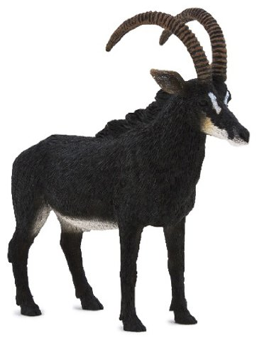 Mojo Fun 387145 Giant Sable Antelope - Realistic International Wildlife Toy Replica