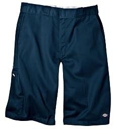 Dickies Men\'s 13 Inch Loose Fit Multi-Pocket Work Short, Dark Navy, 36