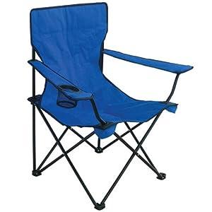 Texsport Bazaar Folding Armchair with Drink Holder, Blue
