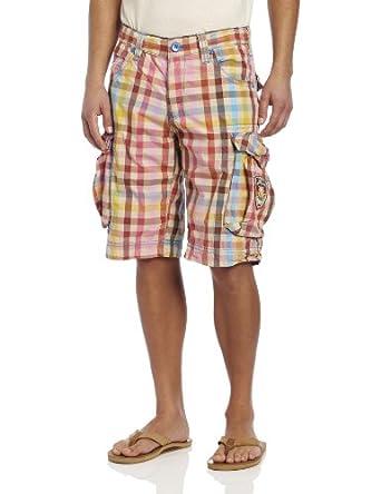 Jet Lag Men's Mia Poplin Shorts, Multi, 29