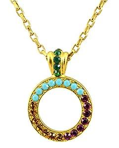 """Amazon.com: Mariana Gold Plated """"Happy Days"""" Swarovski Crystal Circle"""
