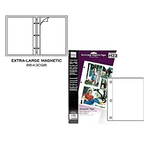XL white 'magnetic' pages EasyStik self-adhesive 20 refill pages by Holson-Burnes (3 pack) - 8.5x11 8643096 8643096, stick pinnacle photo