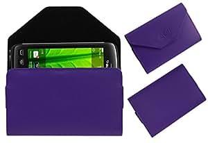 Acm Premium Pouch Case For Blackberry Torch 9860 Flip Flap Cover Holder Purple