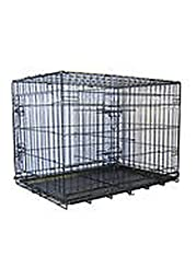 Go Pet Club 24-Inch Two Door Folding Metal Cage with Divider