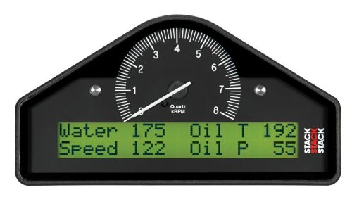 Stack St8100Mar-08 Action Replay Black 0-8K Rpm Dash Timer Display