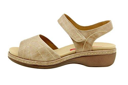 Scarpe donna comfort pelle Piesanto 8801 sandali soletta estraibile comfort larghezza speciale