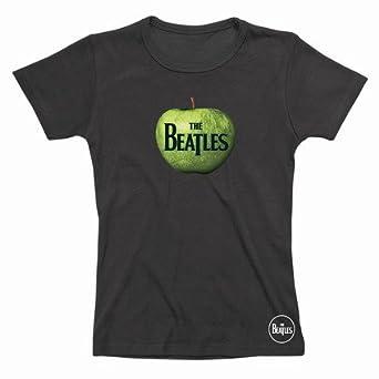 """Spike Damen T-Shirt The Beatles """"Apple"""", schwarz, Gr. S"""