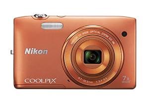 Nikon Coolpix S3500 Fotocamera Digitale 20 Megapixel, Zoom Ottico 7X, LCD TFT da 6.7 cm (2.7 Pollici), Stabilizzatore di Immagine, Colore Arancione
