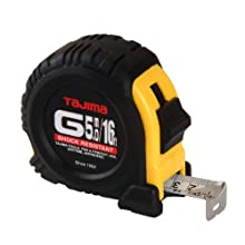 Tajima G-16/5MBW 16-Feet or 5-Meter by 1-Inch Steel Blade Tape Measure