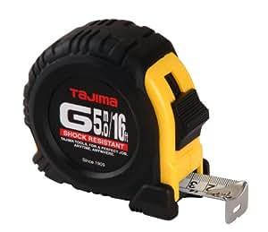 Tajima G-16/5MBW 16-Feet or 5-Meter by 1-Inch Steel Blade Tape Measure