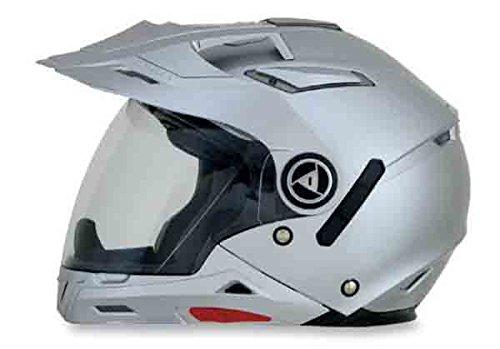 AFX FX-55 7-In-1 Solid Helmet , Gender: Mens/Unisex, Helmet Type: Modular Helmets, Helmet Category: Street, Distinct Name: Silver, Primary Color: Silver, Size: XL 0104-1253