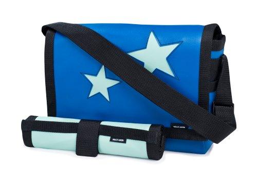 Holly Aiken Airship Diaper Messenger Bag, Star, Jade/Royal Blue