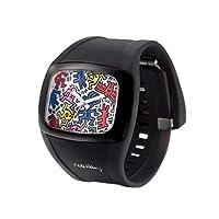 オーディーエム o.d.m Keith Haring キース・へリング メンズ レディース腕時計 DD100A (ブラック(DD100A-60))