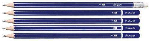 Pelikan Crayon avec gomme GP,degr? de duret? HB,blister de 3