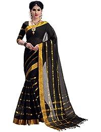 Aurabeam Venisa Black Cotton Saree_VK8004