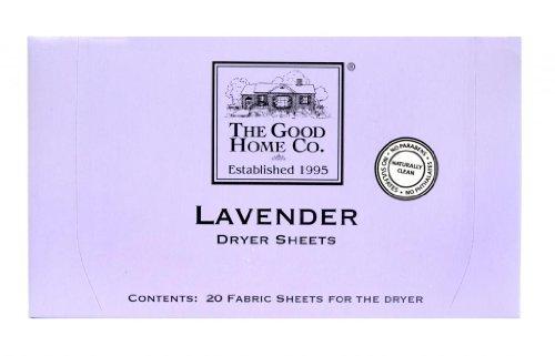 the good home co dryer sheets lavender 20 count garden decor fragrances. Black Bedroom Furniture Sets. Home Design Ideas