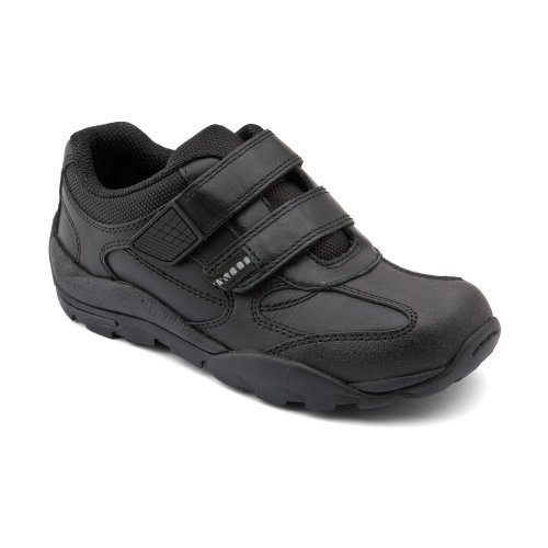 Start-Rite Boys Reflector Black Leather Junior Shoes F L 1½