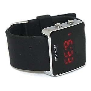 SODIAL(TM) Montre LED digitale unisexe Couleurs Noire