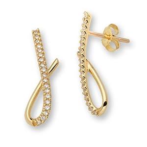 Miore Damen Ohrringe 18 Karat (750) Gelbgold M0809PY
