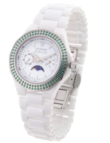 DeTomaso Women's Quartz Watch Giulia Grün Ladies Edition DT3003-B with Metal Strap