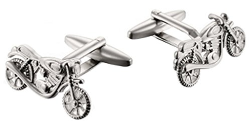 Aooaz Jewelry Stainless Steel Unique Motorcycle Design Shirt Cufflinks for Men Silver