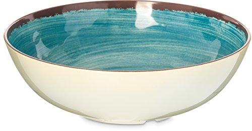 Carlisle 5401315 Mingle Melamine Serving Bowl, 4.8 Qt, Aqua (Set of 6)