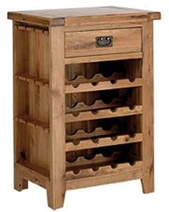 Kettle interiors meuble de rangement en ch ne pour for Meuble bouteille de vin