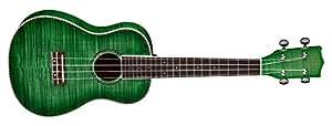 dean guitars uke dc fm tgr concert flame maple ukulele trans green musical. Black Bedroom Furniture Sets. Home Design Ideas