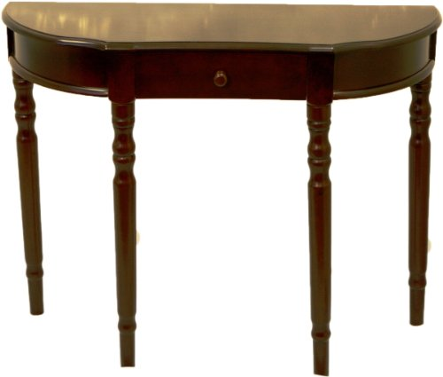 entry way console table hall table cherry finish