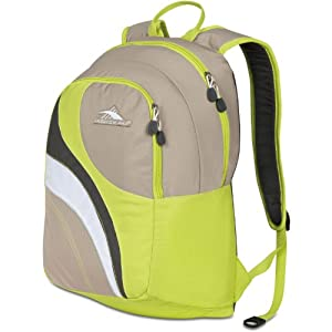 High Sierra Nami Backpack, Almond Chartreuse Charcoal Silver/Tan, 18.5x12.5x8-Inch