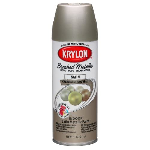 Krylon K05125300 Brushed Metallic Aerosol Spray Paint 11 Ounce Champagne Nouveau Champaign