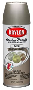 krylon k05125300 brushed metallic aerosol. Black Bedroom Furniture Sets. Home Design Ideas