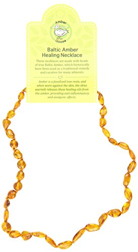 Momma Goose Teething Necklace, Cognac, 15""