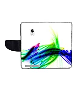 KolorEdge Printed Flip Cover For Asus Zenfone 5 Multicolor -(55KeMLogo12376Zen5)