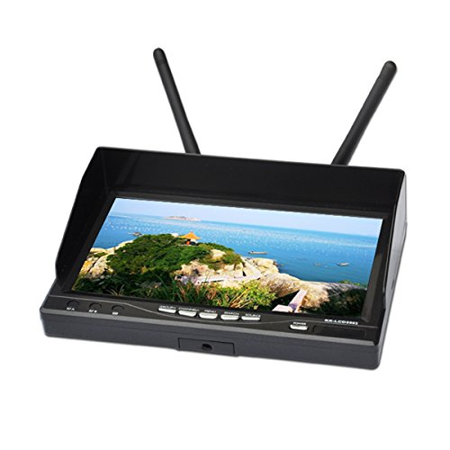 """Synix Boscam Rx-Lcd5802 5.8Ghz Wireless Fpv 7"""" Diversity Lcd Screen Receiver Monitor - Black"""