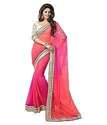 Om Shantam Sarees womens Bollywood Georgette Sari